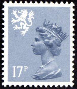 timbre en Ecosse avec le portrait de la reine