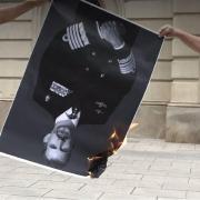 Manifestation anti-monarchique à Madrid