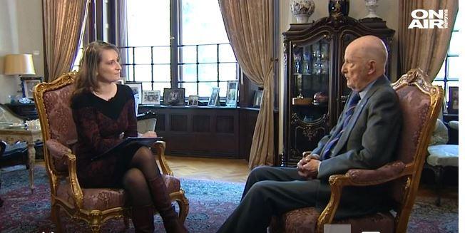 Siméon II interrogé par Bulgarian On Air