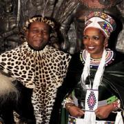 Shiyiwe Mantfombi Dlamini  et le roi Goodwill