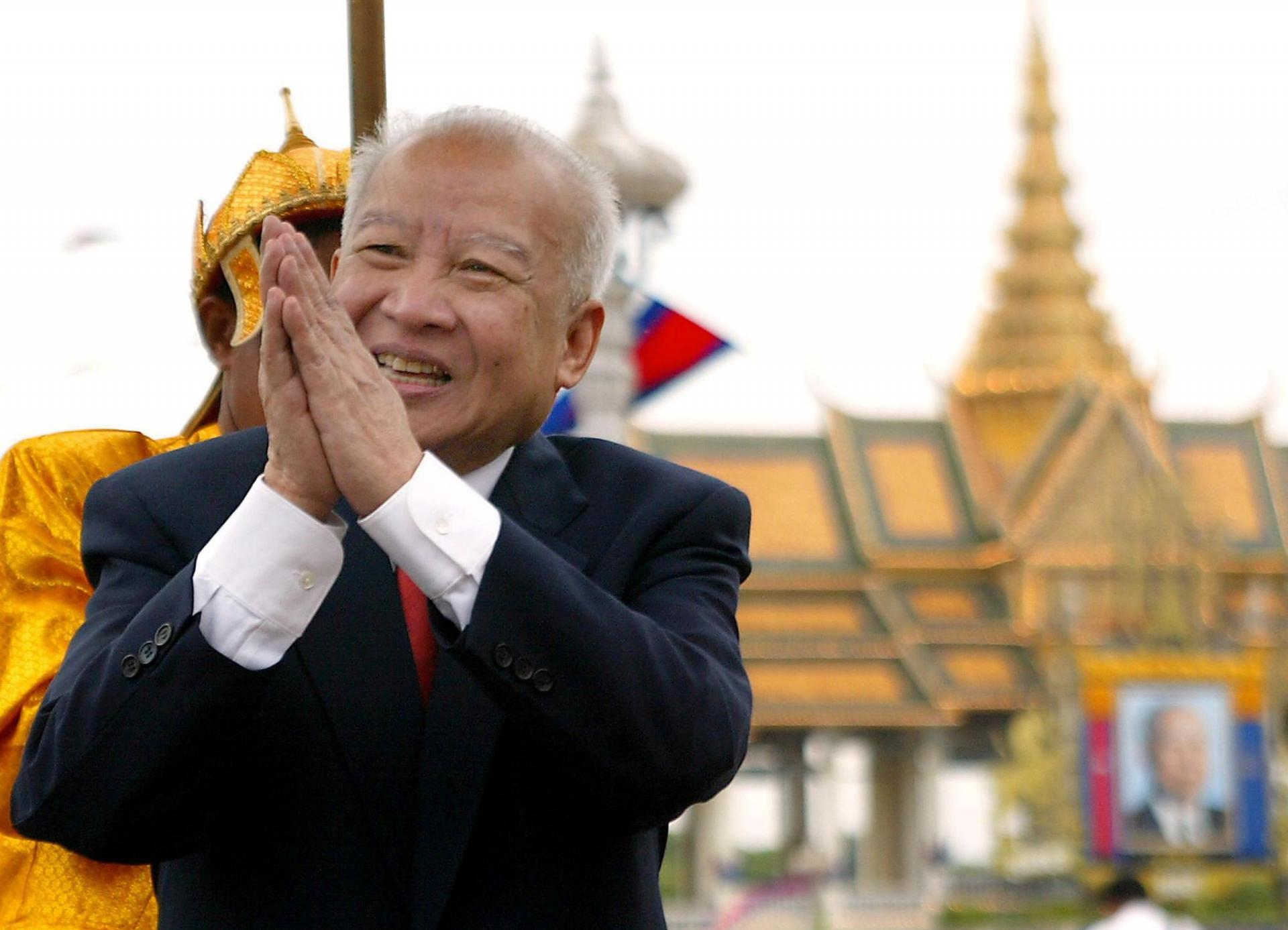 Le roi Norodom Sihanouk