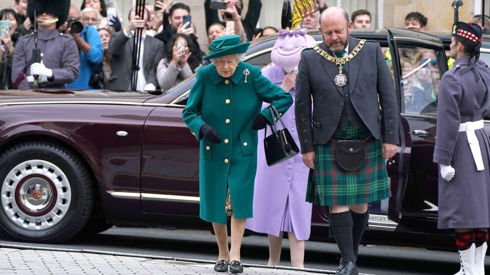 Arrivée de la reine au parlement écossais