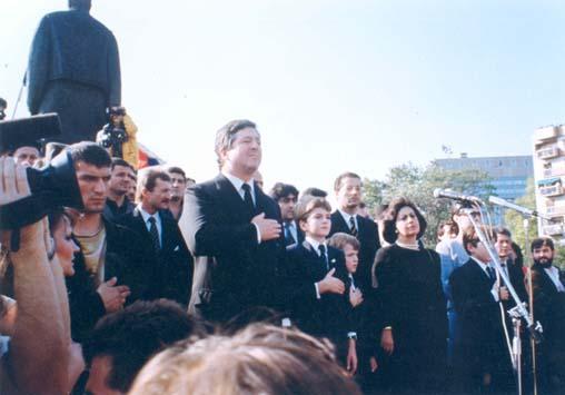 Retour du prince Alexandre en 1991