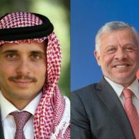 Le prince Hamzah (gauche) et le roi Abdallah  II ( droite)