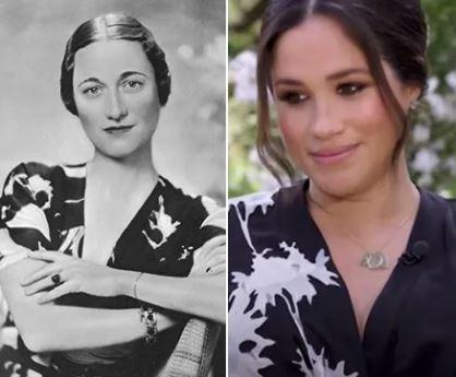 Wallis warfield simpson et meghan markle deux robes similaires