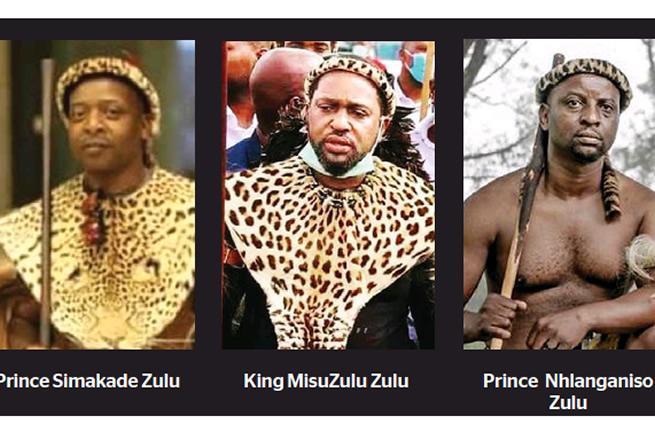Les candidats au trône zoulou